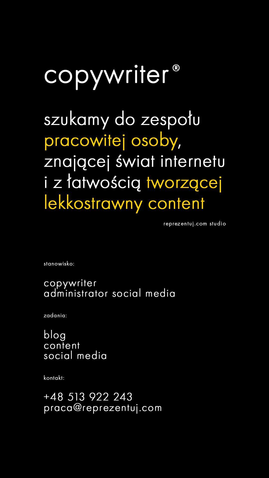 Rekrutujemy copywriterów